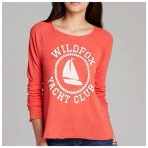 Wildfox yacht club raw edge sweater large